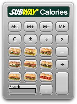 Subway nutrition calculator salad recipe.